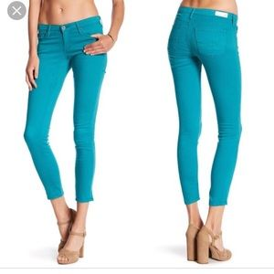 AG skinny turquoise jeans